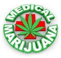 Medical Marijuana Plus Sign Leaf Words Advertise Selling Pot Med Royalty Free Stock Photo
