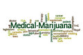 Medical marijuana word cloud on white background Royalty Free Stock Images