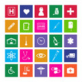 Medical metro icons image of various colorful isolated on a white background Royalty Free Stock Photo