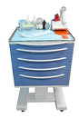 Medical movable bedside table with drawer Stock Images