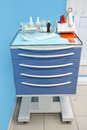 Medical movable bedside table with drawer Royalty Free Stock Photos