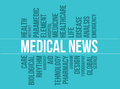 Medical News Vector Typography Background Concept Series 01