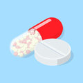 Medical Pill And Tablet.