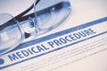 Medical Procedure. Medicine. 3D Illustration.