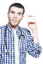 Medical Professional With Business Card On White Stock Photography