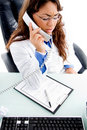 Medical professional talking on phone Stock Images