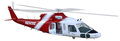 Medical Rescue Helicopter Isolated Illustration