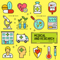 Medical and Research Icon Set Royalty Free Stock Photo
