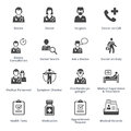 Medical Services Icons Set 3 - Black Series Royalty Free Stock Photo