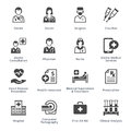 Medical Services Icons Set 4 - Black Series Royalty Free Stock Photo