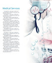 Medical services photo collage Royalty Free Stock Photo