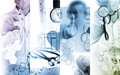Medical services photo collage multicolored Royalty Free Stock Photography