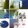 Medical services photo collage multicolored Royalty Free Stock Photos