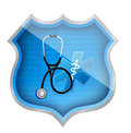 Medical shield illustration design over a white background Royalty Free Stock Image