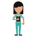 Medical staff female clipboard health