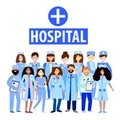 Medical staff of the hospital doctor and nurses. A group of men and women doctors