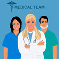 Medical staff, team, physician, doctor, vector illustration Royalty Free Stock Photo