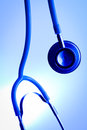 Medical stethoscope beautiful and blue tint Royalty Free Stock Image