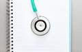 Medical stethoscope concept of education with book and Royalty Free Stock Photos