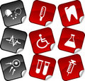 Medical  stickers. Royalty Free Stock Photos