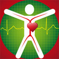 Medical Symbol -ECG Wave Royalty Free Stock Photos