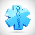 Medical symbol illustration of with serpent and stick Stock Photography