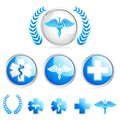Medical symbol vector illustration of collection of different Royalty Free Stock Image