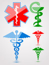 Medical symbols set Stock Photo