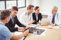 Medical team having a meeting in conference room Royalty Free Stock Photo