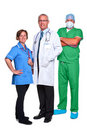 Medical team isolated on white Royalty Free Stock Photos