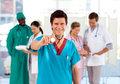 Medical team working in a hospital Royalty Free Stock Photo