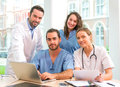 Medical team working at the hospital all together Royalty Free Stock Photo
