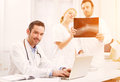 Medical team working at the hospital Royalty Free Stock Photo