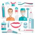 Medical teeth hygiene infographic.