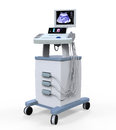 Medical ultrasound diagnostic machine isolated on white background d render Stock Photography