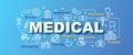 Medical vector trendy banner