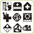 Medical and veterinary set of vector icons vinyl ready Stock Photos