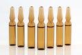 Medical vials for injection drug Stock Image