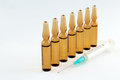 Medical vials for injection drug Royalty Free Stock Image