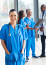 Medical worker hospital attractive young in Royalty Free Stock Photography