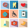 Medicals icon set illustration eps sign graphic web Stock Photos