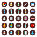 Medicament set of icons image drugs and medical products Stock Photography