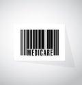 Medicare barcode sign concept illustration