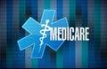 Medicare binary sign concept illustration design