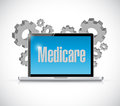 Medicare computer technology sign concept illustration design over white Royalty Free Stock Photography