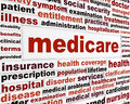 Medicare health care concept medical issues message design Royalty Free Stock Image
