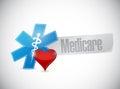 Medicare medical symbol sign illustration