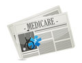 Medicare paper sign concept illustration design over white Royalty Free Stock Photography