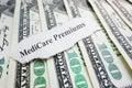 Medicare premiums headline Royalty Free Stock Photo