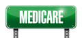 Medicare road sign illustration design over white Stock Photos